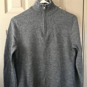 Women's Express Sweater 3/4 Zip Long Sleeve Size M